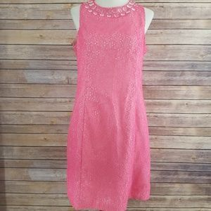 Trina Turk Embellished Clear Sleeveless Dress
